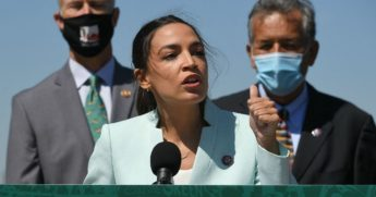 Rep. Alexandria Ocasio-Cortez of New York, pictured at a news conference Tuesday,