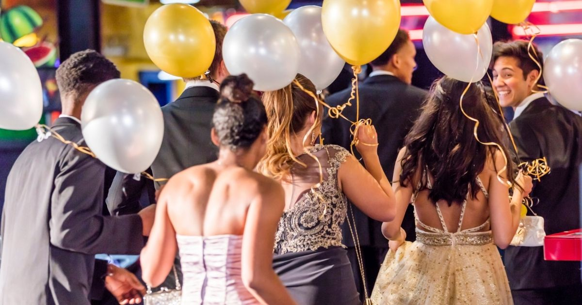 Teenagers at a prom.
