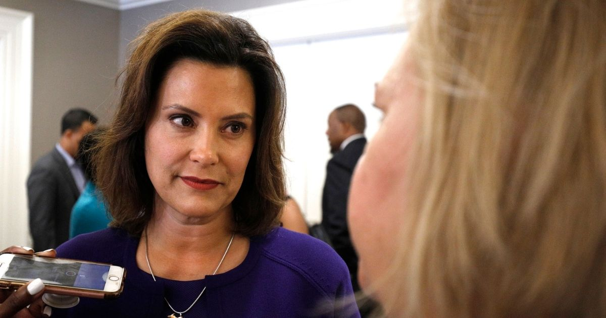 Michigan Gov. Gretchen Whitmer, pictured in a file photo from her 2018 gubernatorial campaign.