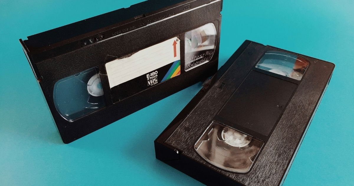 The above stock image shows two VHS tapes. Caron McBride found out that she was charged with a felony for not returning a video more than twenty years ago.