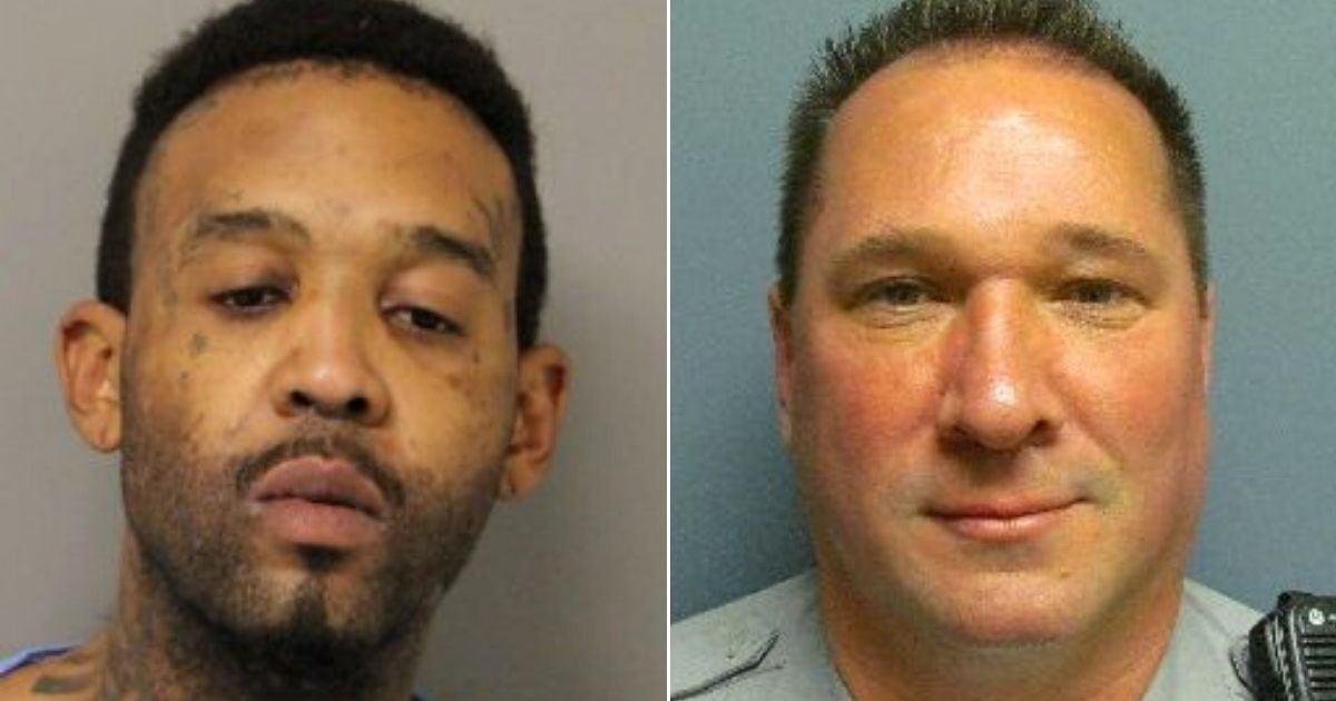 Randon D. Wilkerson, left, was arrested in the death of Delmar police Cpl. Keith Heacook, right.
