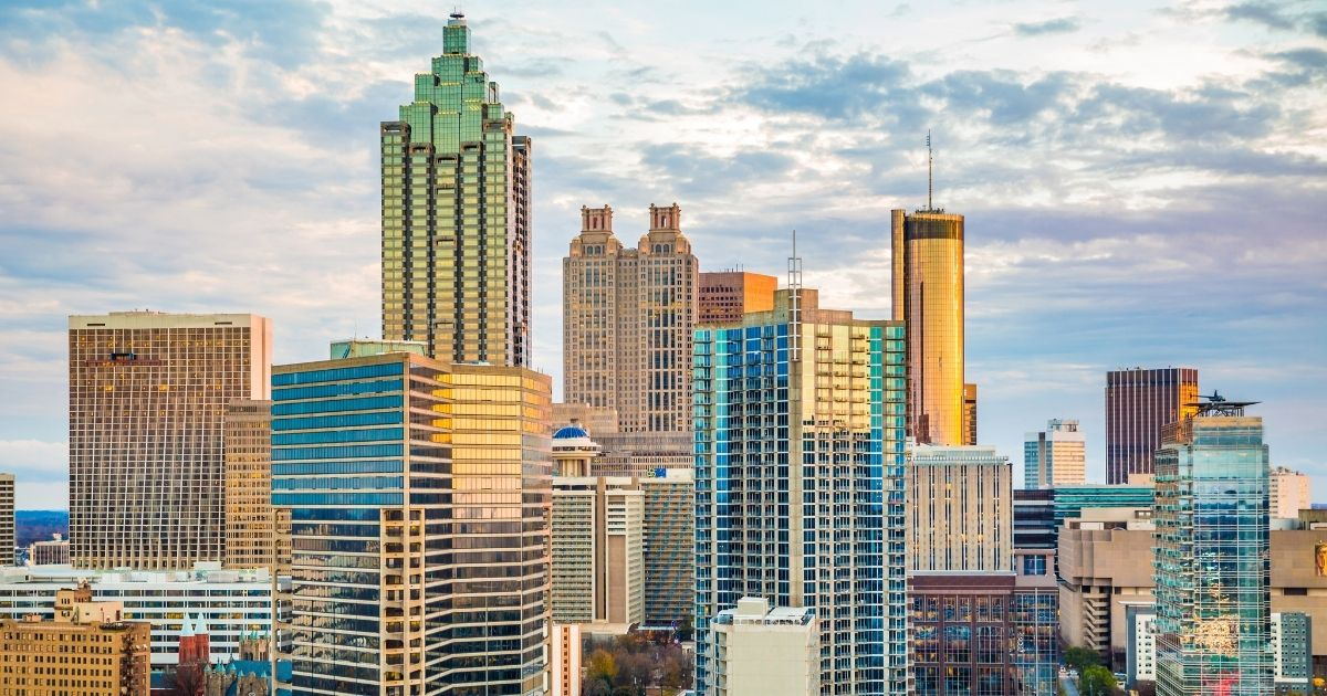The Atlanta skyline is seen in this stock image.