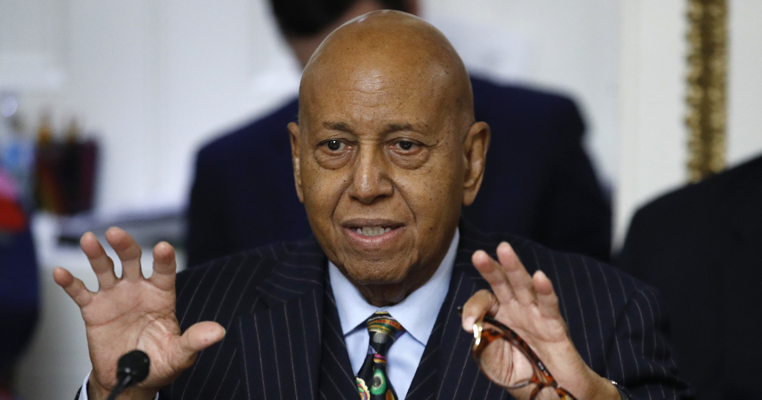 Democratic Rep. Alcee Hastings of Florida speaks during a House Rules Committee hearing on Capitol Hill in Washington on Dec. 17, 2019.
