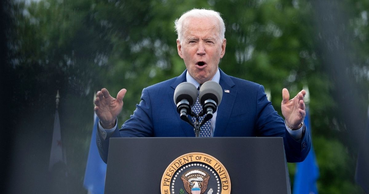 President Joe Biden speaks during a rally on Thursday in Duluth, Georgia.