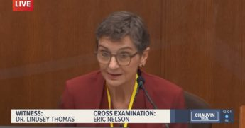 Dr. Lindsey Thomas, former chief medical examiner for Hennepin County, Minnesota, testifies Friday in the trial of the police officer accuses of murder in the George Floyd case.