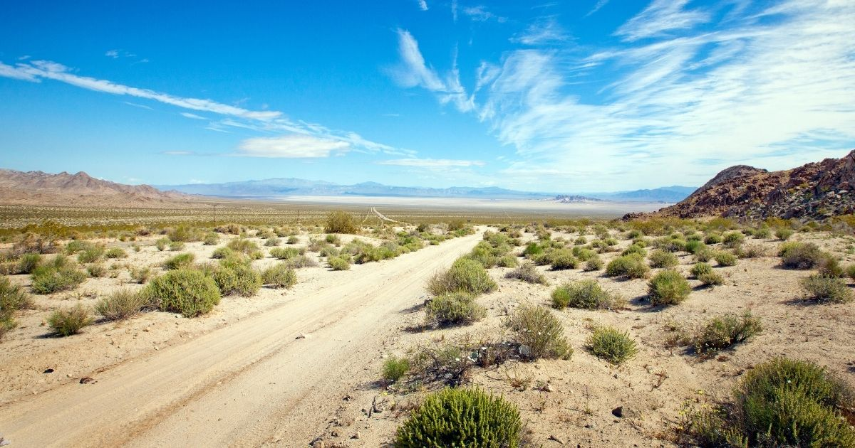 The Mojave Desert is seen in the above stock image.