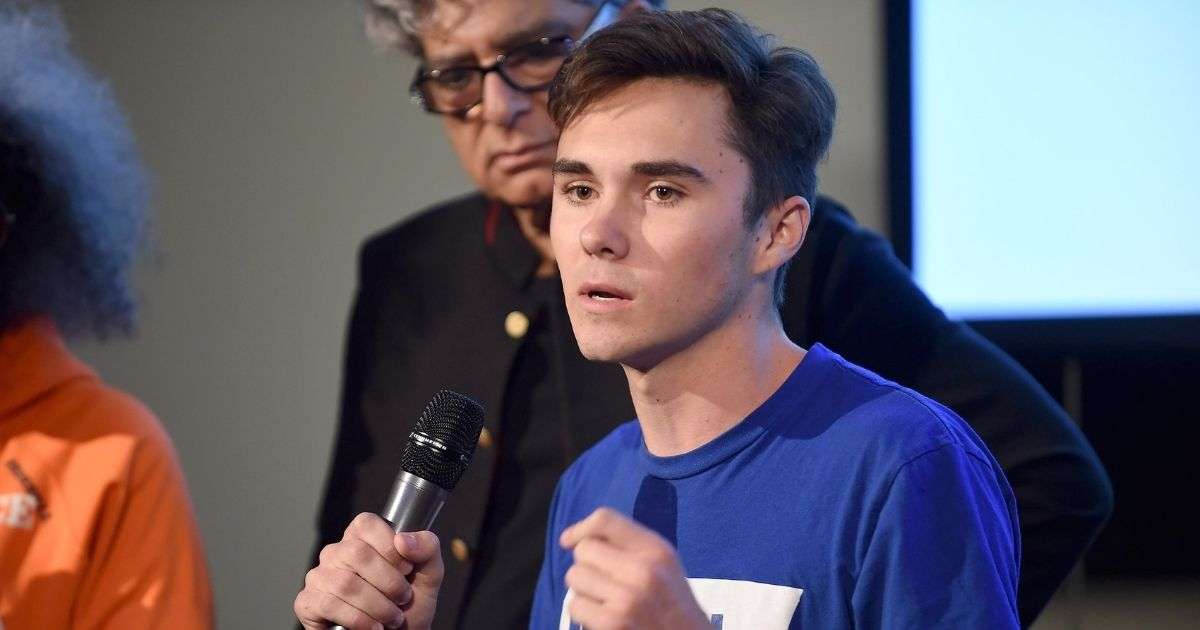 David Hogg attends the 9th Annual Peace Week Town Hall.