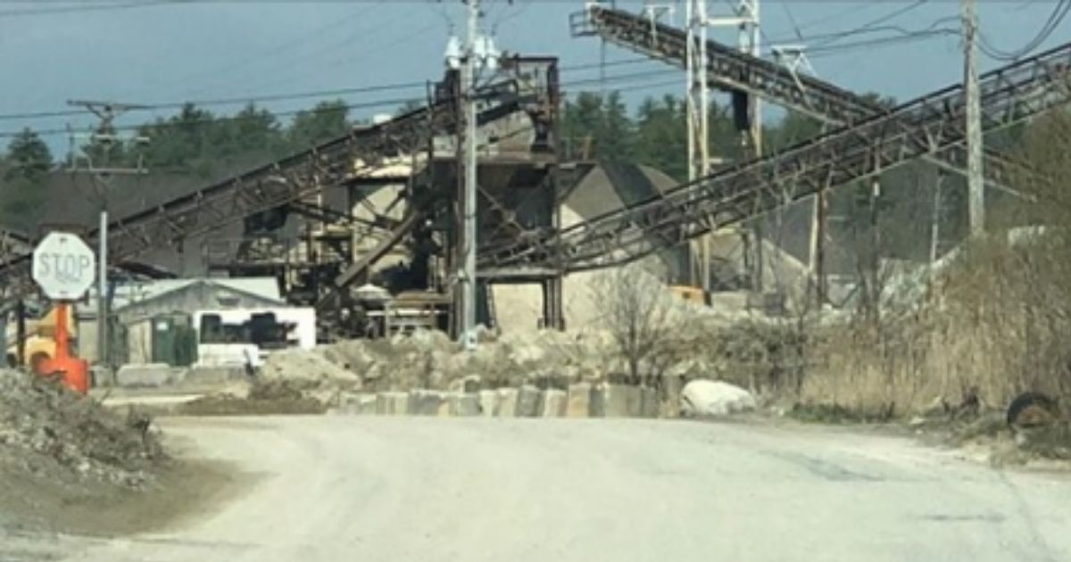 The quarry at Torromeo Industries where the gender reveal explosion was said to have taken place.