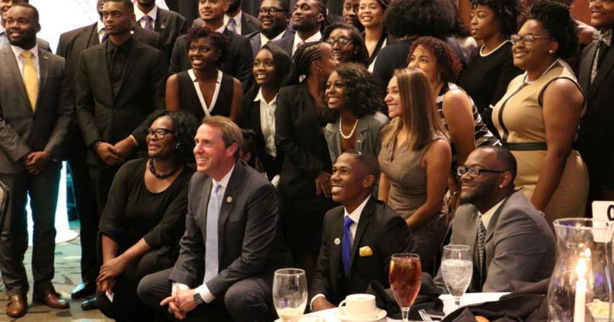 Mark Walker poses for a photo at the North Carolina Legislative Black Caucus Foundation's Wainwright Annual Scholarship Banquet benefiting historically black colleges and universities on June 18, 2018.