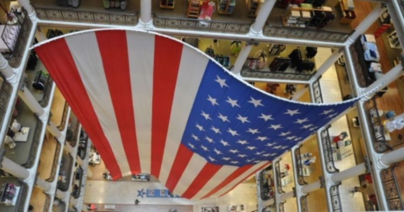 The world's largest American flag was unfurled in Chicago on Friday.
