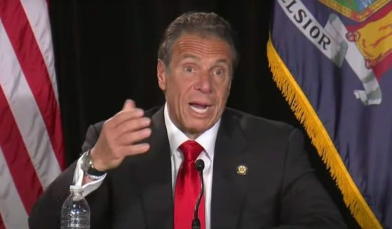 New York Gov. Andrew Cuomo answers a question during news conference Thursday.