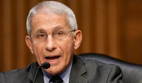Dr. Anthony Fauci, director of the National Institute of Allergy and Infectious Diseases, speaks during a Senate Health, Education, Labor and Pensions Committee hearing on May 11, 2021, at the U.S. Capitol in Washington, D.C.