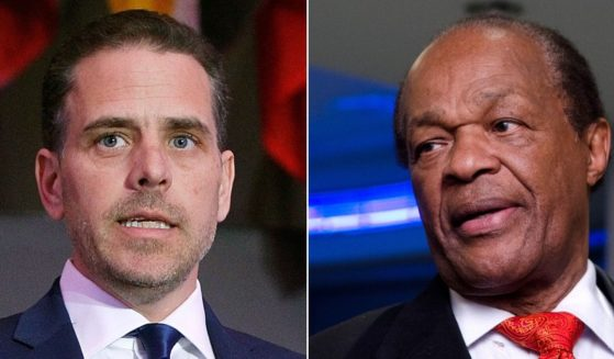 Hunter Biden, left, seen in 2016, reportedly said in a phone call that he smoked crack with former Washington Mayor Marion Barry, right, seen in 2012.