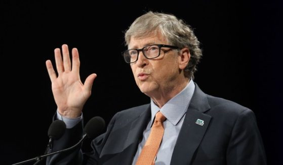 Bill Gates delivers a speech during the conference of Global Fund to Fight HIV, Tuberculosis and Malaria on Oct. 10, 2019, in Lyon, France.