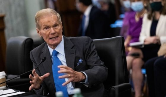NASA Administrator Sen. Bill Nelson testifies during a Senate Commerce, Science, and Transportation Committee nomination hearing on April 21 in Washington, D.C.
