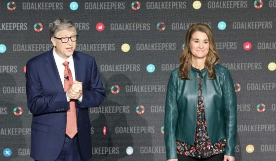 Bill Gates and his wife Melinda Gates introduce the Goalkeepers event at Lincoln Center on Sept. 26, 2018, in New York.