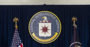The seal of the Central Intelligence Agency is seen at CIA Headquarters in Langley, Virginia, on April 13, 2016.