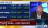 """Steve Liesman of CNBC's """"Squawk Box"""" double-checks the numbers from April's jobs report on air."""