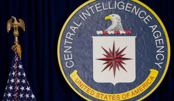 The seal of the Central Intelligence Agency at CIA headquarters in Langley, Virginia, is pictured above.