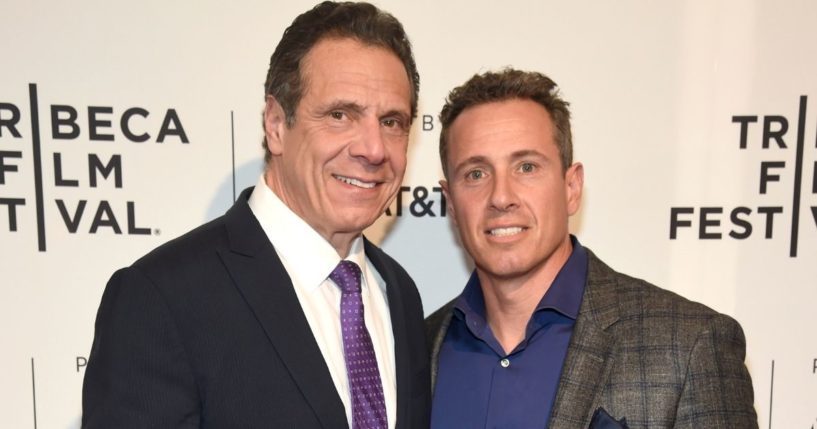 "Democratic New York Gov. Andrew Cuomo, left, and CNN host Chris Cuomo attend the HBO Documentary Film ""RX: Early Detection A Cancer Journey With Sandra Lee"" during The Tribeca Film Festival at SVA Theater on April 26, 2018, in New York City."