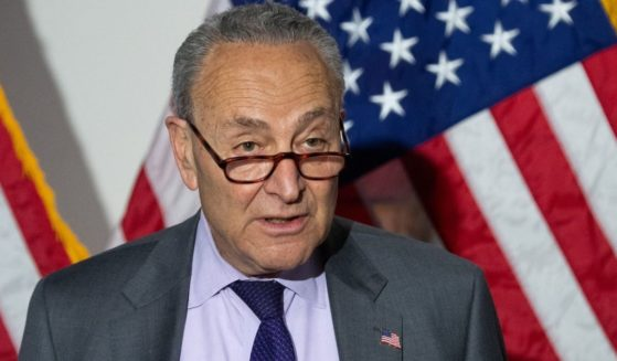 Senate Majority Leader Senator Chuck Schumer speaks during a news conference after the Democrats' weekly policy luncheon on Capitol Hill in Washington, D.C., on Tuesday.