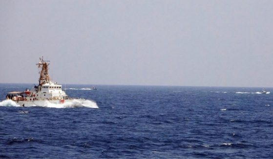 Two Iranian Islamic Revolutionary Guard Corps Navy fast in-shore attack craft, a type of speedboat armed with machine guns, conducted unsafe and unprofessional maneuvers while operating in close proximity to USCGC Maui as it transits the Strait of Hormuz with other U.S. naval vessels, May 10, 2021.