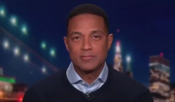 CNN's Don Lemon is seen on his nightly program.