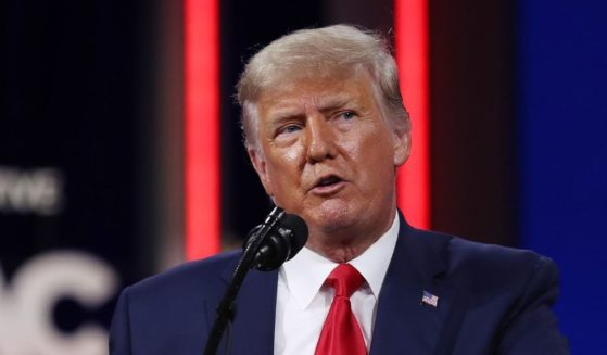 Former President Donald Trump addresses the Conservative Political Action Conference held in the Hyatt Regency on Feb. 28, 2021 in Orlando, Florida.