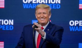 President Donald Trump speaks at the Operation Warp Speed Vaccine Summit on Dec. 8, 2020, in Washington, D.C.