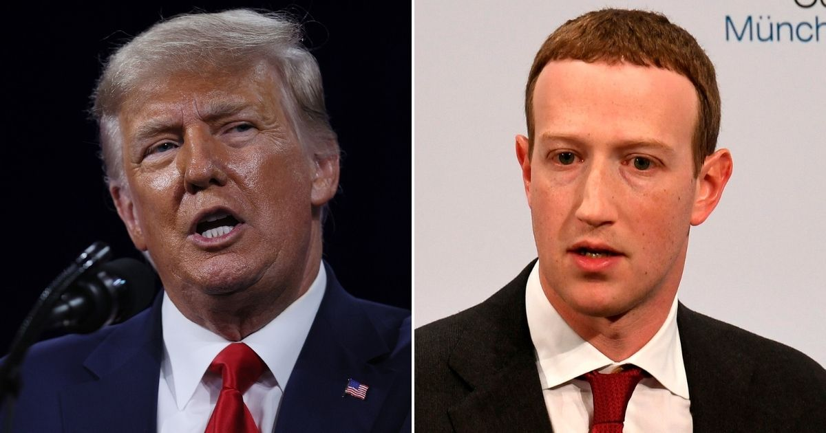 Facebook's Oversight Board will announce whether former President Donald Trump, left, can return to Facebook and Instagram at 9:00 a.m. ET on Wednesday, Facebook announced.