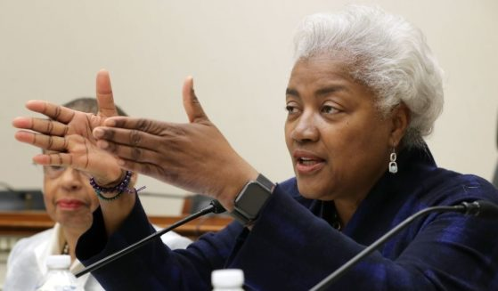 Former Democratic National Committee chairperson Donna Brazile participates in a panel discussion about Women's History Month in the Rayburn House Office Building on Capitol Hill March 19, 2019, in Washington, D.C.