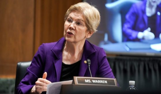 Democratic Sen. Elizabeth Warren of Massachusetts speaks during a Senate Finance Committee nomination hearing on Feb. 23, 2021, at Capitol Hill in Washington, D.C.