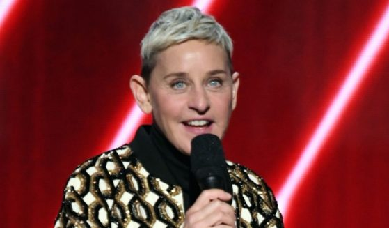 Ellen DeGeneres speaks onstage during the Grammy Awards at Staples Center in Los Angeles on Jan. 26, 2020.