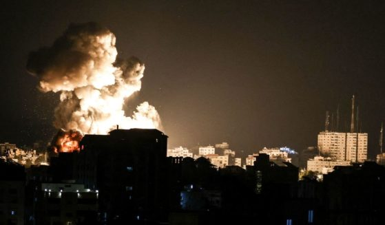 Fire billows from Israeli air strikes in the Gaza Strip, controlled by the Palestinian Islamist movement Hamas, on Thursday.