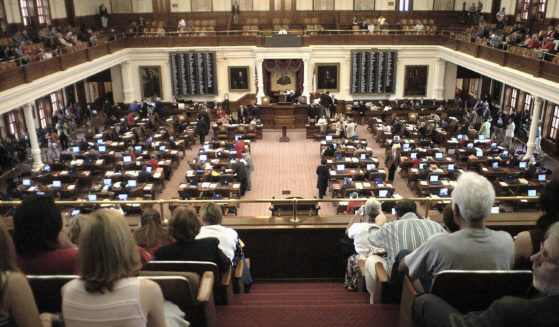 The Texas Legislature is seen in session on May 16, 2003, in Austin, Texas.