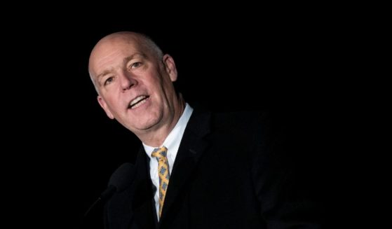 Then-Montana GOP Rep. Greg Gianforte speaks during the U.S. Capitol Christmas tree lighting ceremony on Capitol Hill on Dec. 6, 2017, in Washington, D.C.
