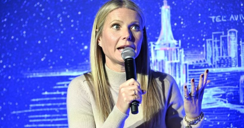 Actress Gwyneth Paltrow hosts a panel discussion at the JVP International Cyber Center grand opening on Feb. 3, 2020, in New York City.