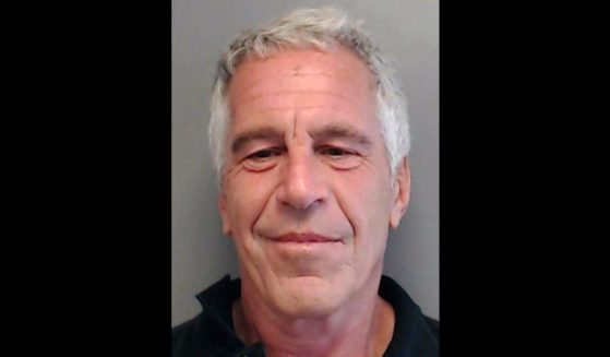 In this handout provided by the Florida Department of Law Enforcement, Jeffrey Epstein poses for a sex offender mugshot after being charged with procuring a minor for prostitution on July 25, 2013, in Florida.