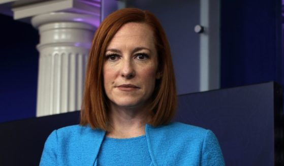 White House Press Secretary Jen Psaki listens during a daily press briefing at the James Brady Press Briefing Room of the White House on Thursday in Washington, D.C.
