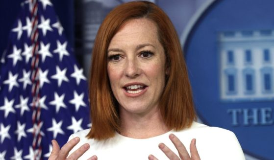 White House press secretary Jen Psaki speaks during a daily briefing in the James Brady Press Briefing Room of the White House in Washington on Wednesday.