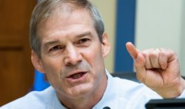 Republican Rep. Jim Jordan of Ohio asks a question during a hearing of the House Oversight and Reform Committee on Capitol Hill in Washington on Aug. 24.