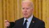 President Joe Biden speaks in the East Room of the White House in Washington, D.C., on Friday.