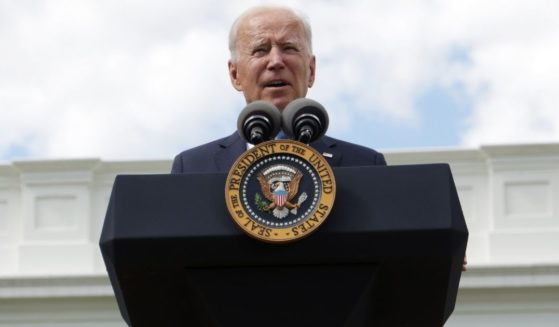President Joe Biden delivers remarks in the Rose Garden of the White House on Thursday in Washington, D.C.