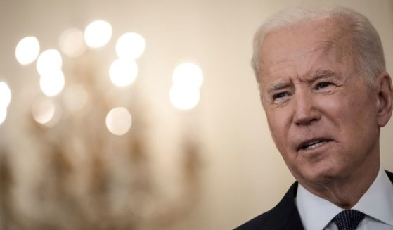 President Joe Biden delivers remarks on the economy in the East Room of the White House on Monday in Washington, D.C.