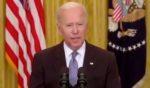 President Joe Biden speaks at the White House in Washington, D.C., on Monday.