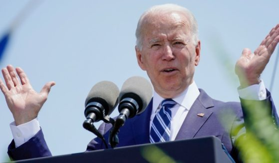 President Joe Biden speaks at the commencement for the U.S. Coast Guard Academy in New London, Connecticut, on Wednesday.