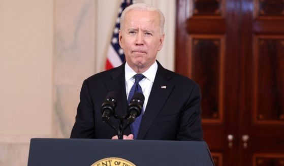 President Joe Biden delivers remarks from the White House on May 20, 2021, in Washington, D.C.