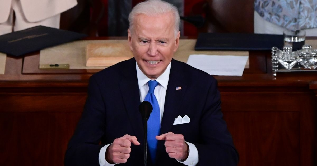 President Joe Biden addresses a joint session of congress on Wednesday in Washington D.C.