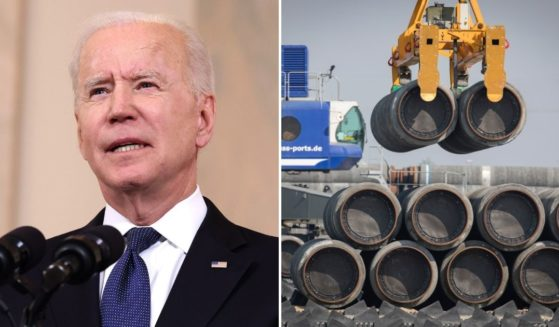 When President Joe Biden, left, took office, one of his first major moves was to revoke the permit for the Keystone-XL Pipeline. A few months later, he is now helping pave the way for Russia to build a gas pipeline to Germany.