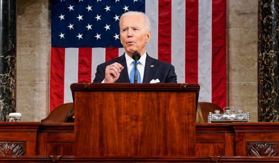 President Joe Biden addresses a joint session of Congress in the House chamber of the U.S. Capitol on April 28, 2021, in Washington, D.C.